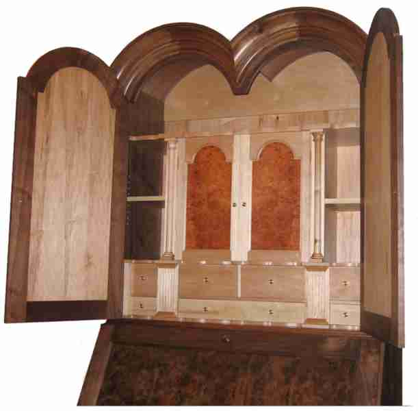 Interior of upper cabinet