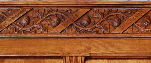 Wild Strawberry Frieze Carving
