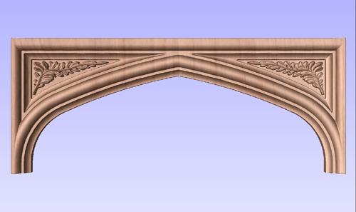 Tudor Arch with Carved Spandrels
