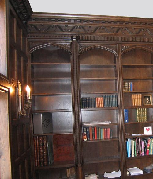 Tudor Style Bookcases