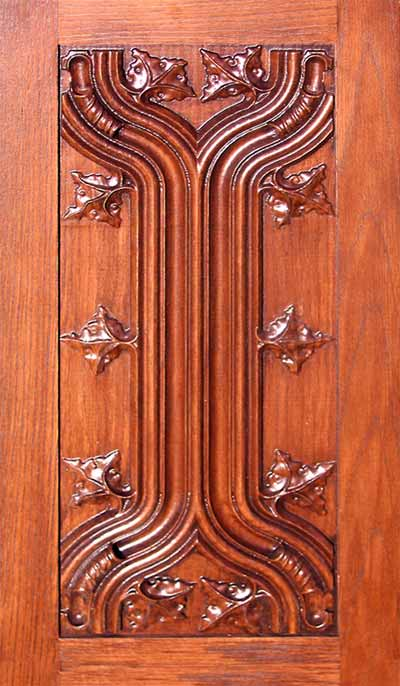 Carved Panel Cabinet Door By Masterpiece Furniture Creations
