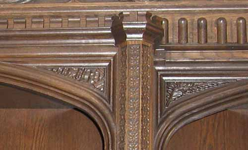 Tudor bookcase detail