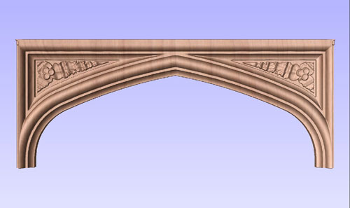 Tudor Arch with Carved Spandrels No. 1