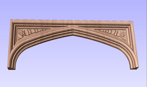 Tudor Arch with Carved spandrels No. 2
