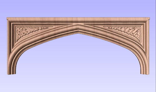 Tudor Arch with Carved Spandrels No. 4