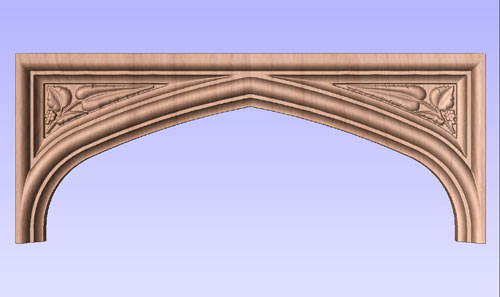Tudor Arch with Carved Spandrels No. 6