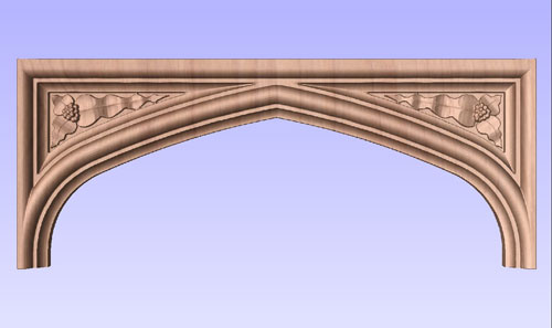 Tudor Arch with Carved Spandrels No. 7