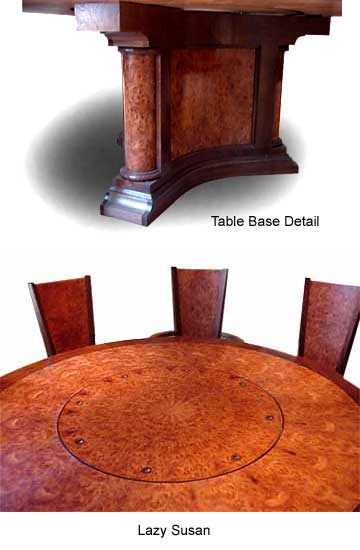 Table base and Lazy Susan detail