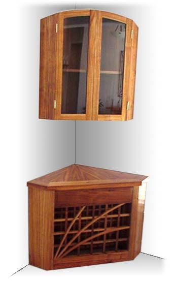 20 Corner Cabinets To Make A Clutter Free Bathroom Space: Corner Cabinet By Masterpiece Furniture Creations