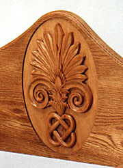 Chair carving detail (photo by Dewy Mear)